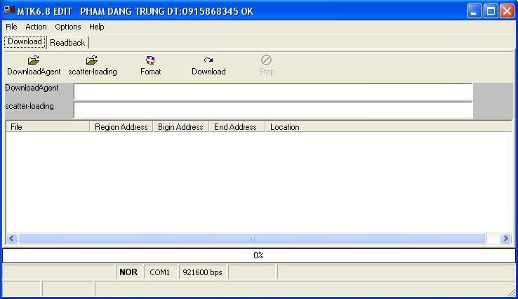 MTK Flash Tool 6.1.8 - Çin Telefonları Yazılım Güncelleme