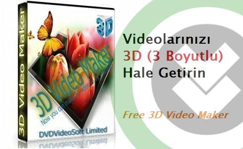 Free 3D Video Maker Türkçe