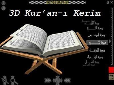 Üç Boyutlu 3D Kur'an-ı Kerim
