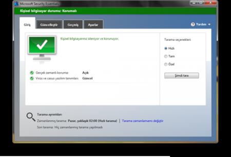 Microsoft Security Essentials v4.9.0218.0 TR Katılımsız