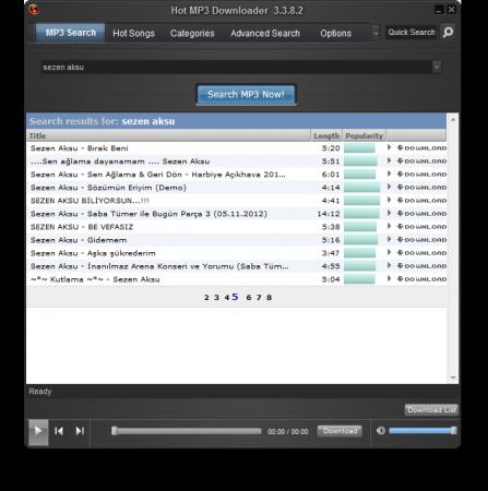 Hot MP3 Downloader 3.4 Katılımsız indir