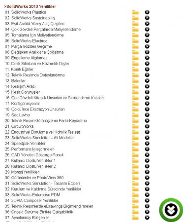 SolidWorks 2013 Türkçe Görsel Eğitim Seti