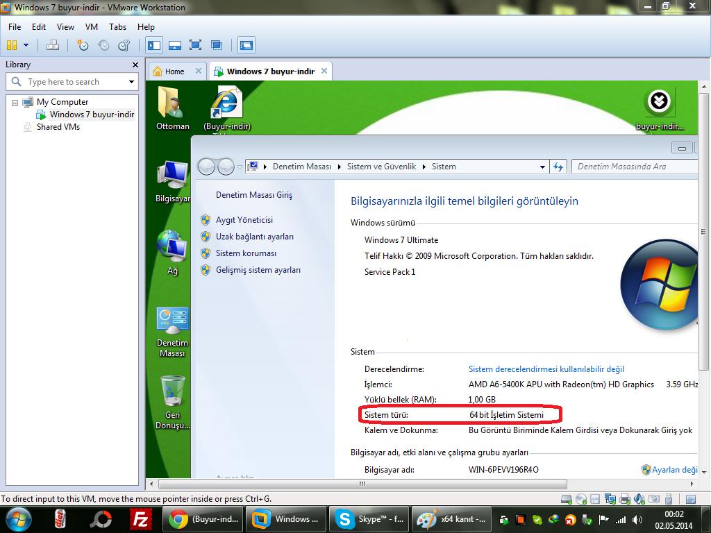 Windows 7 All In One Türkçe Tek Link (2014)