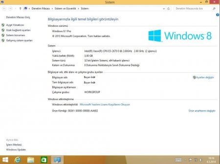 Windows 8.1 Update 1 MSDN 16 Sürüm Türkçe (AIO)
