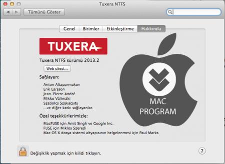 Mac Tuxera NTFS 2013.2 indir
