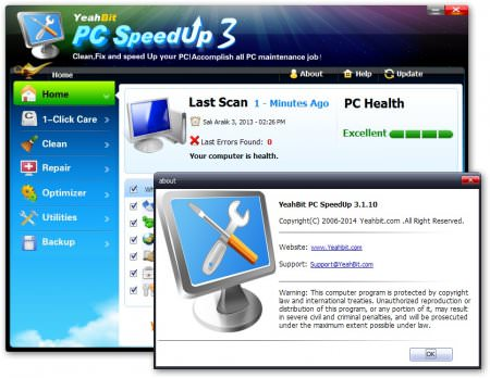 YeahBit PC SpeedUp v3.1.10 Full