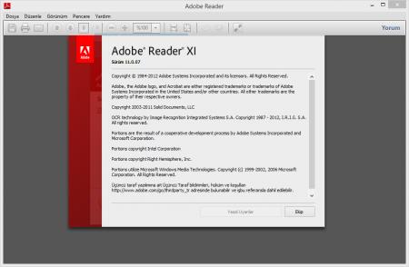 Adobe Reader 11 Lite Türkçe Katılımsız indir