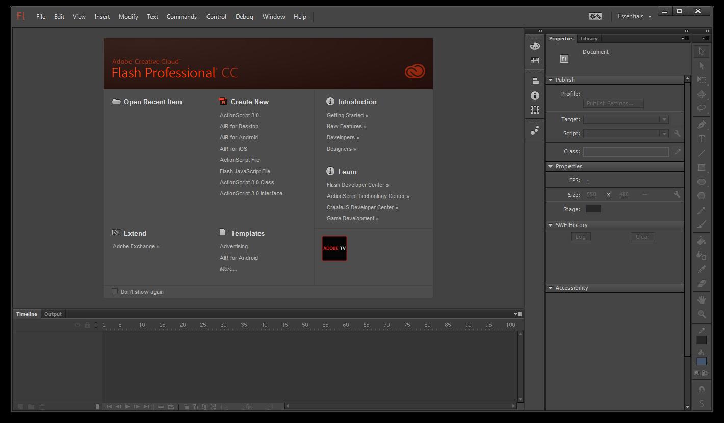 Adobe Flash Professional CC 13.1.0.226 Türkçe Full