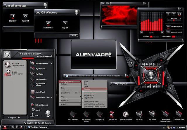 Alienware Xenomorph Windows Teması