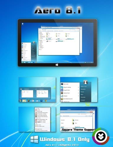 Aero 8.1 Theme 1.0 - Windows 8.1 Teması