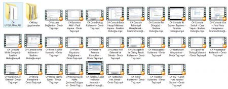 C# Video Eğitim Seti + Uygulamalar