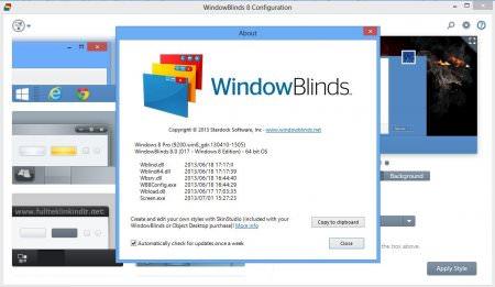 Windowblinds 8.01 Full - Windows Tema Programı