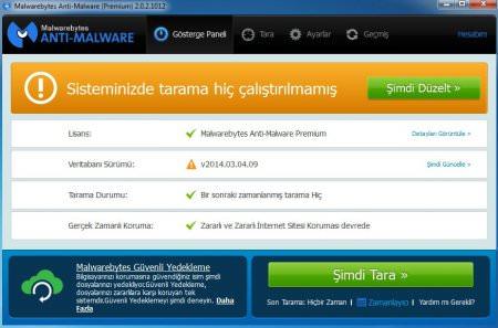 Malwarebytes Anti-Malware Premium v2.2.1.1043 TR Katılımsız