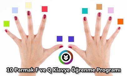 10 Parmak F ve Q Klavye Öğrenme Programı Türkçe