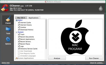 Mac CCleaner Professional Edition 1.07 Full