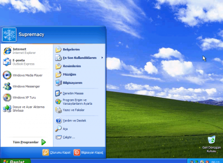 Windows XP Pro SP3 Türkçe