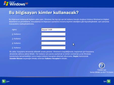 Windows XP Pro SP3 Türkçe