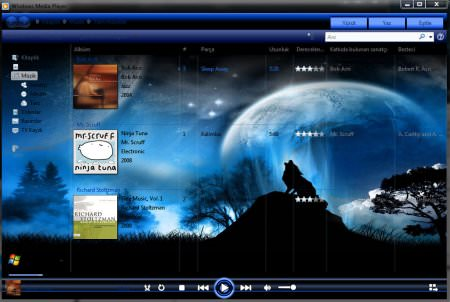 26 Adet Windows 7 Media Player Tema Paketi