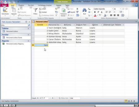 Microsoft Acces 2010 Görsel Eğitim Seti Türkçe