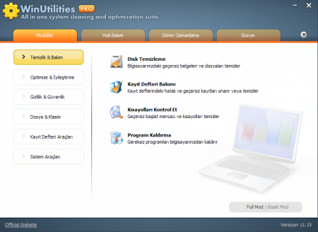 WinUtilities Professional Edition 11 Türkçe Katılımsız