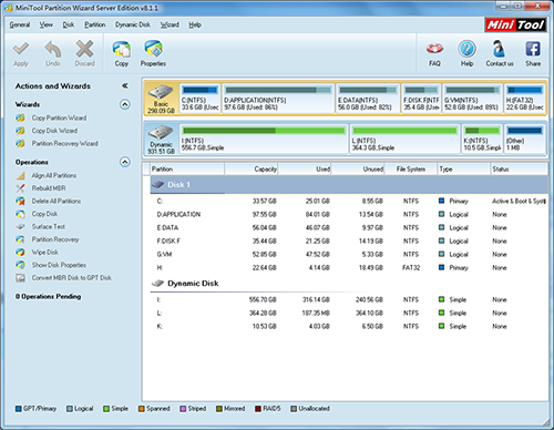 minitool partition wizard full indir