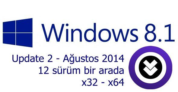 Windows 8.1 Update 2 AIO Ağustos 2014 indir