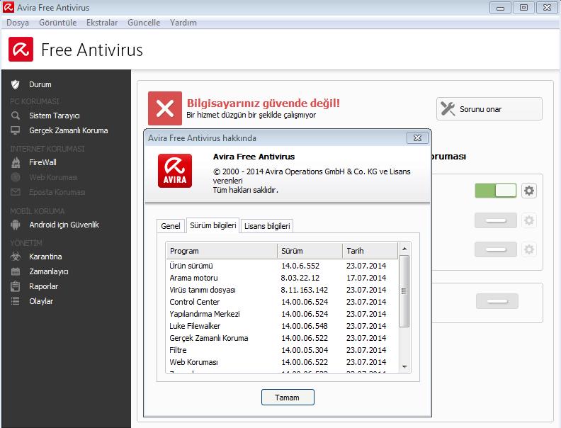 Avira Free Antivirus v15.0.17.273 Türkçe Katılımsız