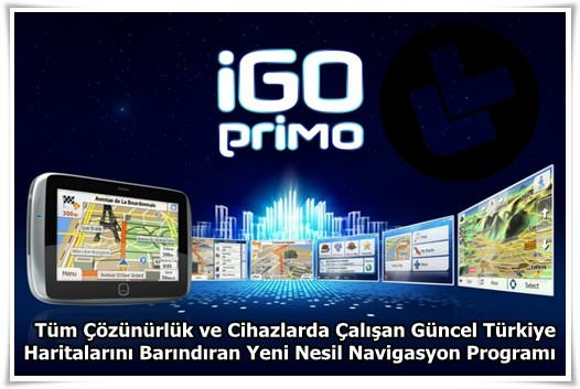 iGO Primo v2.4 Türkçe Full indir
