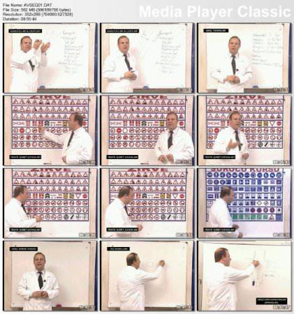 Ehliyet Kursu Görsel Eğitim Seti 5 VCD + Soru Bankası