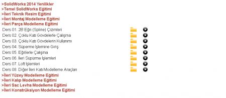 SolidWorks 2014 Görsel Eğitim Seti Türkçe