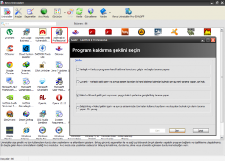 Revo Uninstaller - Program İncelemesi