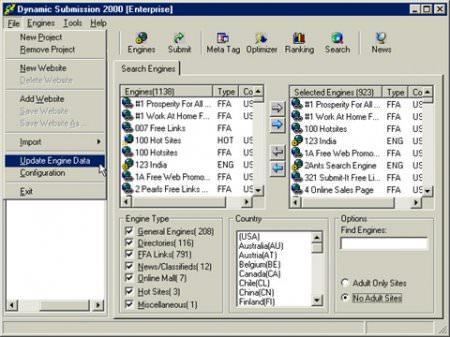 Submission 2000 - Arama Motorlarına Kayıt Programı