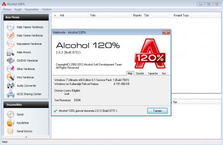 Alcohol 120% v2.0.3 Türkçe Katılımsız