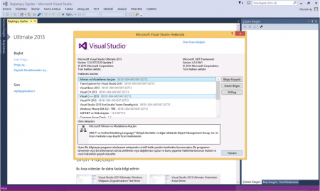 Visual Studio Ultimate 2013 Update 3 Türkçe Full indir