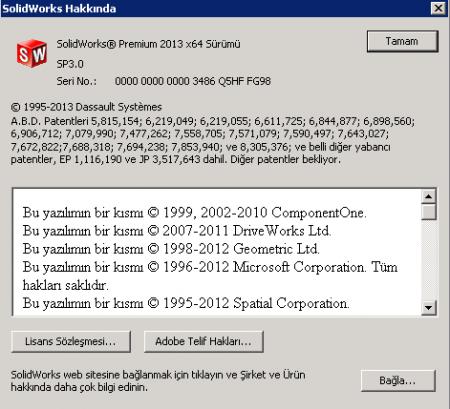 SolidWorks 2013 SP3 Türkçe & İngilizce Tek Link