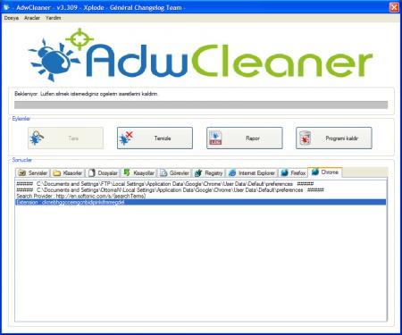 AdwCleaner - Tarayıcı Kurtarma Programı incelemesi