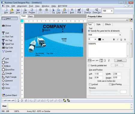 Business Card Designer Plus 11.5.1 Full indir