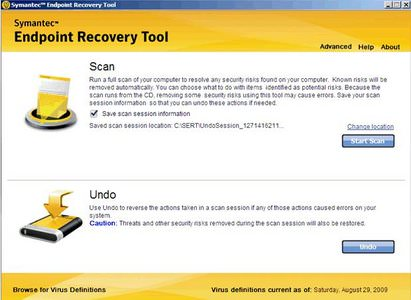 Symantec Endpoint Recovery Tool 2014