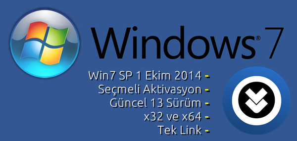 Windows 7 SP1 AIO (13in1) Ekim Güncel