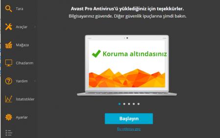 avast! Antivirus Pro 2016 v11.1.2253 Türkçe Full