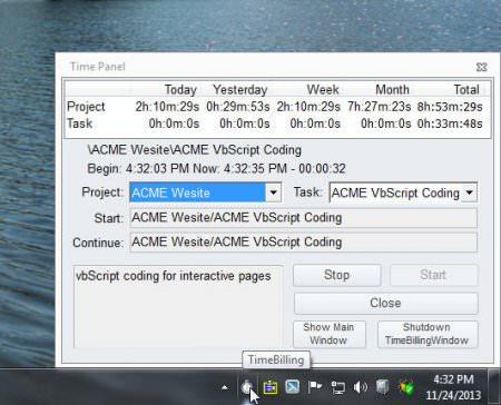 ZPAY Time Billing Window v2.0