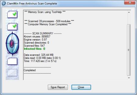 ClamWin Antivirus v0.98 indir