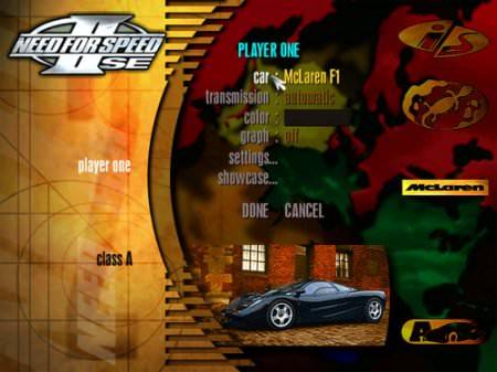 Need for Speed II SE + 3DFX Katılımsız Full indir