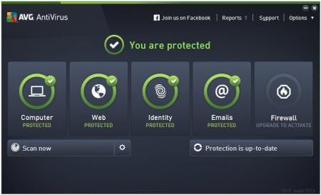 AVG Antivirus Free 2015 v15.5 Türkçe