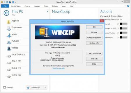 WinZip Pro v20.5 B12118