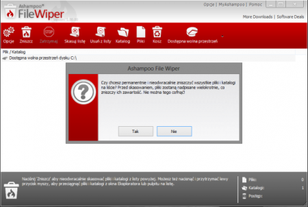 Ashampoo File Wiper v1.0 Türkçe