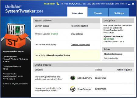 Uniblue SystemTweaker 2014 v2.0