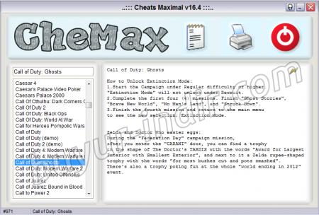 CheMax v16.4 - Oyun Hile Arşivi Programı