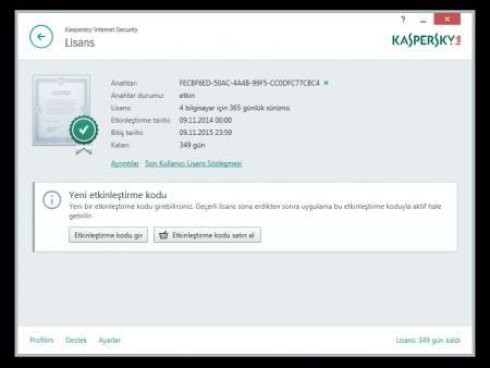 Kaspersky Internet Security 2015 v15.0 Türkçe Katılımsız