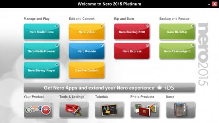 Nero Platinum 2015 v16.0 Türkçe Portable